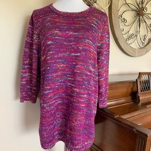 NWT Studio Works Size 2X Colorful Sweater